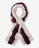 EVIEE Striped faux fur scarf