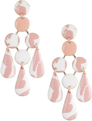 Banana Republic Pink Chandelier Earrings
