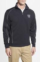 Cutter & Buck Men's 'Oakland Raiders - Edge' Drytec Moisture Wicking Half Zip Pullover