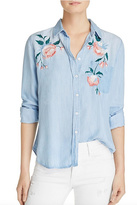 Rails Floral Denim Shirt