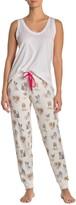 PJ Salvage Mon Cheri Puppy Print Pajama Joggers