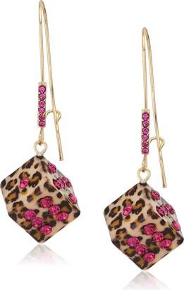 Betsey Johnson Women's Dice Long Drop Earrings