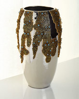 John-Richard Collection Brass & Stone Vase