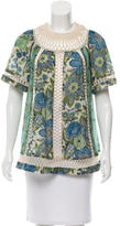Zimmermann Lace-Trimmed Floral Print Top