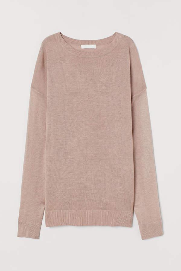 H&M Fine-knit Sweater - Brown