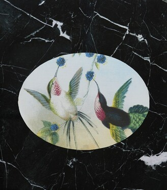 Chilewich Paired Hummingbirds Oval Placemat
