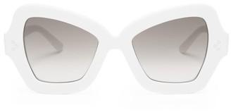 Celine Butterfly Acetate Sunglasses - Womens - White