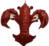 Crawfish Fleur de Lis ornament New Orleans Crayfish party decoration crayfish Christmas tree decor hostess gift New Orleans theme Decor Cajun Christmas Louisiana ornament party favor NOLA gift w Pouch