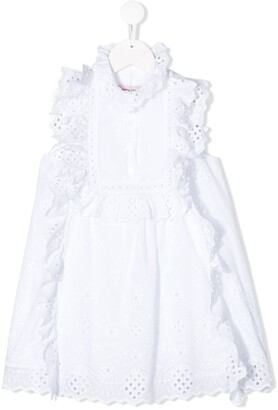Alberta Ferretti Kids Ruffled Perforated Dress
