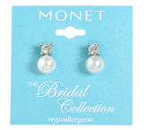 MONET JEWELRY Monet Jewelry The Bridal Collection Stud Earrings