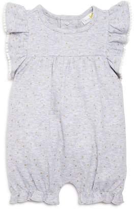 Bloomingdale's Bloomie's Girls' Ruffle-Sleeve Polka-Dot Short Coverall, Baby - 100% Exclusive