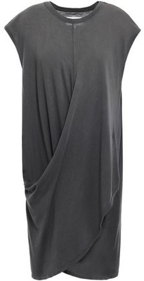 Current/Elliott The Draped Wrap-effect Cotton-jersey Dress