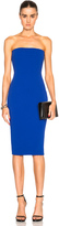 Victoria Beckham Matte Crepe Corset Fitted Dress