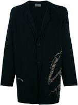 Yohji Yamamoto stylised embroidery cardigan - men - Cotton - 3