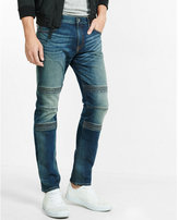 Express slim leg slim fit flex stretch moto jean