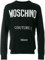 Moschino logo intarsia-knit sweater