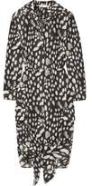 Max Mara Leopard-Print Cotton-Poplin Dress