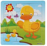 FUNIC Wooden Duck Jigsaw Toys For Kids Education And Learning Puzzles Toys