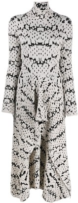 Christian Wijnants Abstract Print Textured Knit Dress