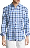Neiman Marcus Big Gingham Long-Sleeve Sport Shirt