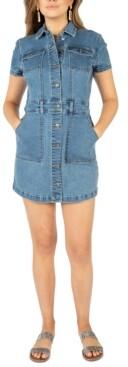 Rewash Juniors' Denim Mini Dress