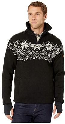 Dale of Norway Fongen Waterproof Masculine Sweater (Black/Off-White/Smoke/Light Charcoal) Men's Clothing