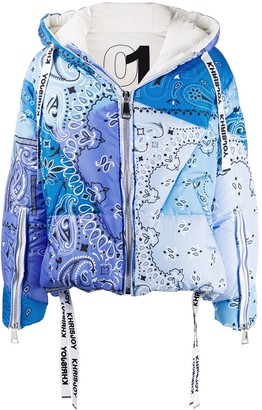 KHRISJOY Quilted Paisley Print Jacket
