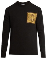 Givenchy Cobra-appliqué Wool Sweater