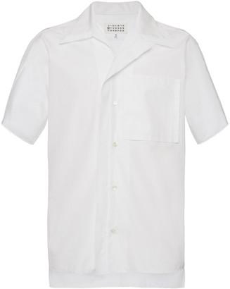 Maison Margiela Short-Sleeve Cotton Poplin Shirt