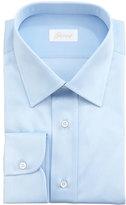Brioni Barrel-Cuff Dress Shirt, Light Blue