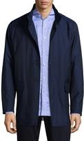 Isaia Men's Stand Collar Wool Jacket