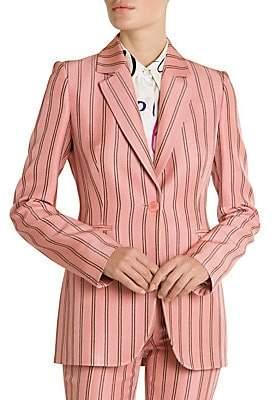 Emilio Pucci Women's Pinstripe One-Button Blazer