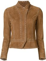 Derek Lam 10 Crosby fitted jacket - women - Suede - 0