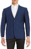 Calvin Klein Extreme Slim-Fit Two-Button Wool Jacket