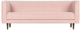 "Velvet 87"" Wide Tuxedo Arm Sofa Luxury Furnitures Fabric: Pink"