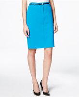 Calvin Klein Belted Pencil Skirt