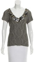 Catherine Malandrino Embellished Metallic Sweater w/ Tags