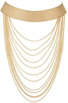 Charlotte Russe Plus Size Tiered Chain Choker Necklace