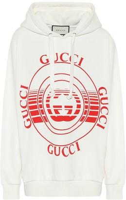 Gucci Logo cotton-jersey hoodie