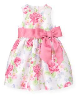 Janie and Jack Butterfly Floral Silk Dress