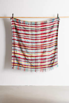 Urban Renewal Vintage One-Of-A-Kind Moroccan Woven Plaid Throw Blanket