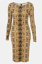 'Baroque' Print Bodycon Dress