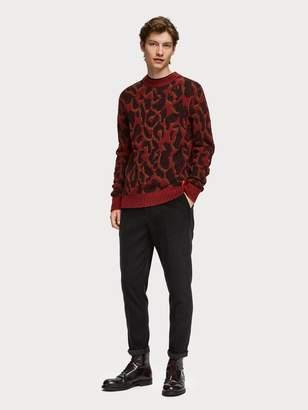 Animal Jacquard Pullover