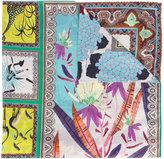 Etro floral border print scarf