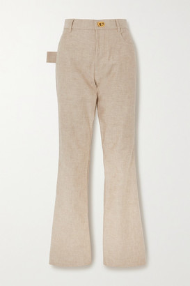 Bottega Veneta High-rise Straight-leg Jeans - Beige