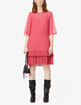 See by Chloe Sheer chiffon mini dress