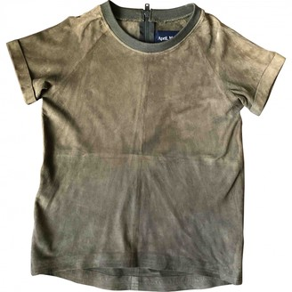 April May Khaki Suede Top for Women
