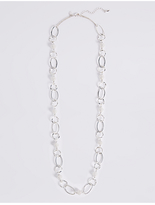 M&S Collection Spiral Bead Links Long Necklace
