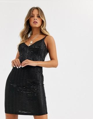 JDY Pacey bodycon mini dress-Black