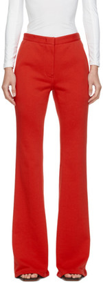 pushBUTTON SSENSE Exclusive Red Flared Trousers